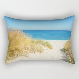 Sand coast by the sea. Rectangular Pillow