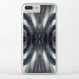 Stone Face Illusion of Fall Clear iPhone Case