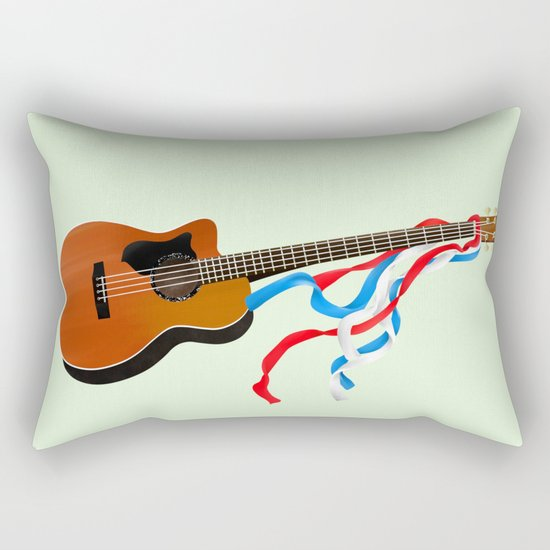 Acoustic Bass Rectangular Pillow