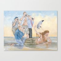 celebrity Canvas Prints featuring Celebrity by Mermaids