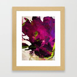 Rose Romantica Lime Green Purple Magenta Framed Art Print