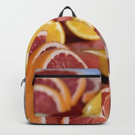 Mix of colorful sliced fruits Backpack