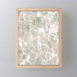 Clear water   beach fine art photography   sea wave and sand Framed Mini Art Print