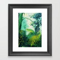 Rainforest Lights and Shadows Framed Art Print
