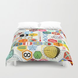 Math in color (white Background) Duvet Cover