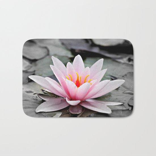 Pink Lotus Flower Waterlily Bath Mat