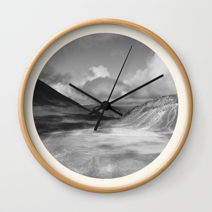 Life Is A Journey (Black & White) Wall Clock
