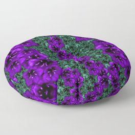 life in jungle so beautiful filled of ornate flowers Floor Pillow