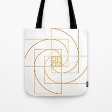 Golden Pinwheel Tote Bag