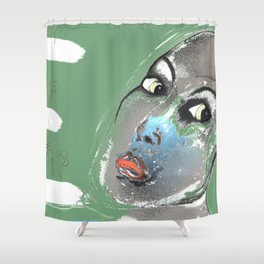 Lady Green Shower Curtain