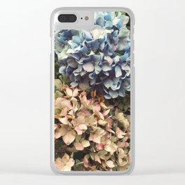Cloudy Hydrangeas Clear iPhone Case