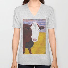 A Cow Named Knight Unisex V-Neck