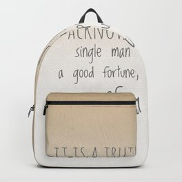 In want of a wife Backpack