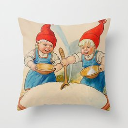 """""""The Pudding Bowl"""" by Jenny Nystrom Throw Pillow"""