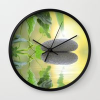 stone Wall Clocks featuring Stone by pf_photography
