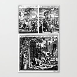 Martyrdom by Burning at the Stake. Canvas Print