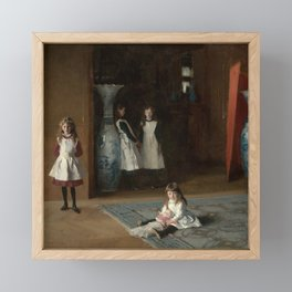 The Daughters of Edward Darley Boit by John Singer Sargent (1882) Framed Mini Art Print