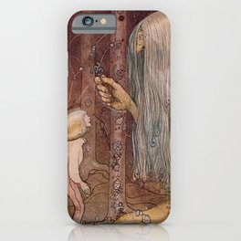 """""""The Troll Herb"""" John Bauer Watercolor iPhone Case"""