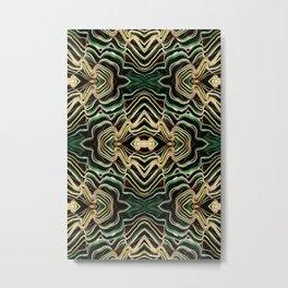 WAVY PALM Metal Print