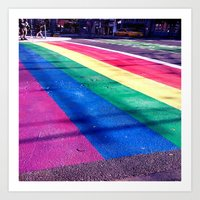 Rainbow Crosswalk Art Print
