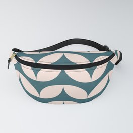Geometric Leaf Shapes in Teal and Blush Fanny Pack