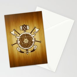 d20 Viking Warrior Stationery Cards