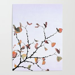 abstract warm leaves Poster