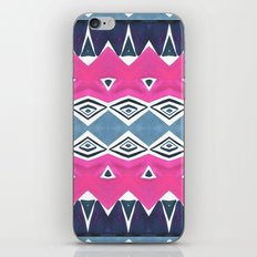 Geo Triangle Pink Navy 2 iPhone Skin