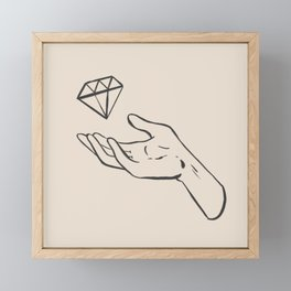 diamond thief white Framed Mini Art Print