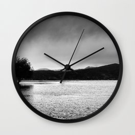 The lonely tree in the sea  Wall Clock