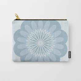 Bold Blue Flower Carry-All Pouch