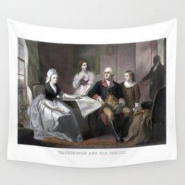Washington And His Family Wall Tapestry