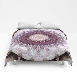Mandala grey to purple Comforters