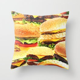 Fast food nation Throw Pillow