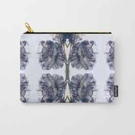 Blue Toile Carry-All Pouch