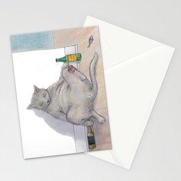 Drunk Kitty Stationery Cards