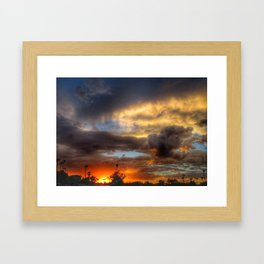 Mother Nature's Painting Framed Art Print