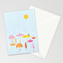 Pretty Parasols for Precipitation LineUp Stationery Cards