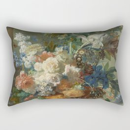 Jan van Huysum - Still life with flowers (1723) Rectangular Pillow