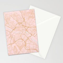Leeds map, UK Stationery Cards