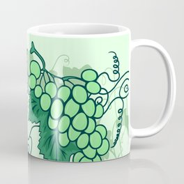 Abstract grapevine with frame from leaves Coffee Mug