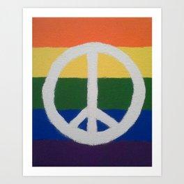 Rainbow Peace Sign Art Print