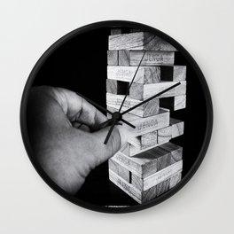 Jenga in Monochrome Wall Clock
