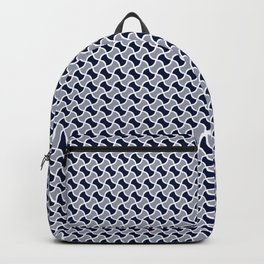 Geometric modern abstract pattern 02 - blue Backpack
