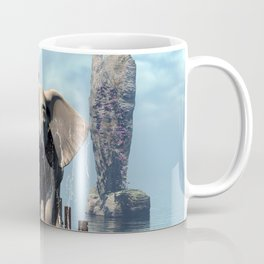 Elephant on a jetty Coffee Mug