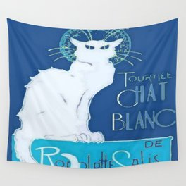 Le Chat Blanc Wall Tapestry