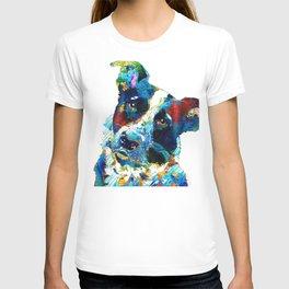 Colorful Dog Art - Irresistible - By Sharon Cummings T-shirt