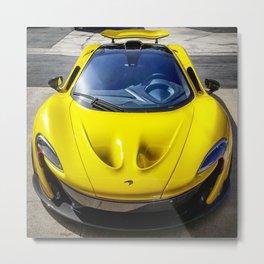 Acid Yellow McLaren P1 Metal Print