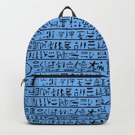 Egyptian Hieroglyphics // Blue Backpack
