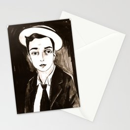 Buster Keaton per un'amica Stationery Cards